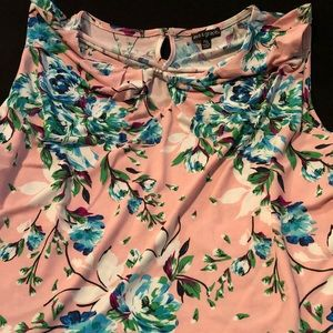 Vibrant floral Ava and grace tank top
